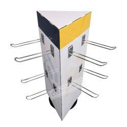 光学カスタムFoldable回転小売店の安く昇進のデジタル美の携帯電話のアクセサリのペーパーボール紙のカウンタートップの表示を現れなさい