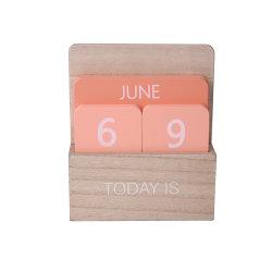 Calendario di legno variopinto per la decorazione da tavolino