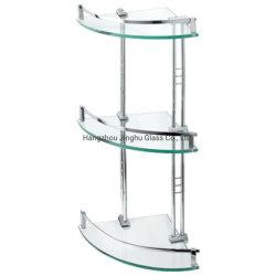 4-8мм прямоугольник/раунда/треугольник пользовательские размеры закаленное стекло полки для ванной комнаты