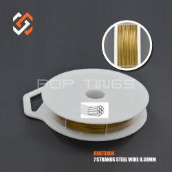 Cordón de cola de Tigre de acero inoxidable GX073804 Cable de tendido de cable para la fabricación de joyas