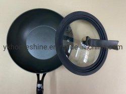 Silicone temperado tampa de vidro para Fry Pan Caçarola Caçarola Pot com o cartão da Luva