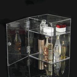 カスタムカウンタートップ透明透明 2 層アクリル製 Perspex Dipslay ボックス ロックとキーを使ったショーケース