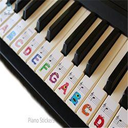 Piano amovible en plastique transparent et le clavier graphique Remarque sticker autocollant du corps de piano