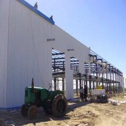 Сегменте панельного домостроения ясно долго Span ткань окрашенная сталь структуры в рамке используется складских зданий для продажи