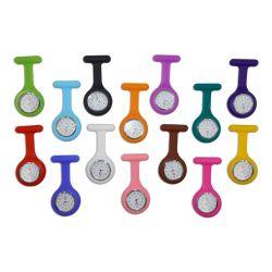 패션 실리콘 브로치 리모컨 포켓 스테인리스 다이얼 간호사 시계