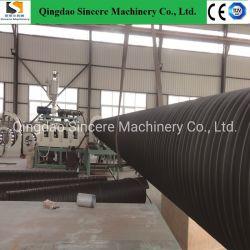 خط ماكينة إنتاج طرد الأنابيب للتهوية في المناجم، وماكينات استخراج الأنابيب ذات اللفات الحلزونية عالية الكثافة (HDPE) ذات المضلع مع تعزيز السيور الفولاذية