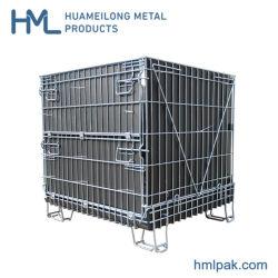 PP 장을%s 가진 쌓을수 있는 Foldable 금속 와이어 궤 저장 그릇