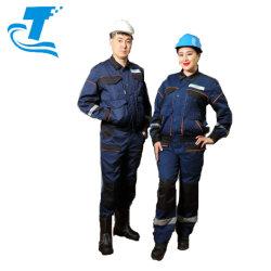 Incombustible antiestático de sarga hombres resistente al aceite&mujer ropa de trabajo uniforme ingeniero
