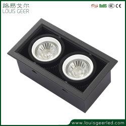 Oberfläche hing PFEILER 10W Gitter-Licht des Decken-Doppelt-Kopf-LED für Büro-Tuch-System ein
