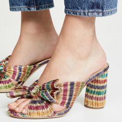 Nueva moda Wholesale Chunky Diapositiva de Tacón Sandalia zapatillas