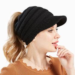 Katoenen Knitt Open Top Promotional Winter Girl'S Basic Sports Caps