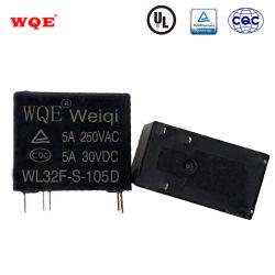Subminiatures à 5A 10A du relais de puissance Spdt Relais PCB à 5 broches Ultra Léger Slim Relais sensibles pour le ménage appareil / commande Auto / Smart Accueil / Audio wl32f