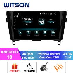 Witson Android 10 Auto DVD Multimedia Player für Nissan 2013-2016 X-Trail Qashqai 4GB RAM 64GB Flash Großbildschirm im Auto DVD-Player