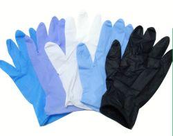 Оптовая торговля синего цвета Порошок нитриловые перчатки без продажи с возможностью горячей замены
