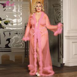 도소매점 플러스 사이즈, 매력적인 Lace Plunge 여성용 섹시 란제리