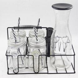 ホームグッズシングルウォール飲料用ガラスカップの標準サイズ ふた付き