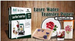 Blanks de sublimação A4 água a laser Slide papel de impressão de transferência adesivo