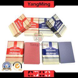 Texas Hold Em Клуб 100 % пластиковые игральные карты на заводе арматуры с помощью двух цветов Ym-PC04