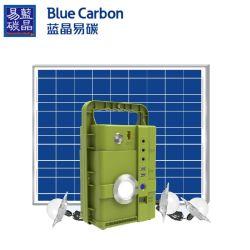 12V/80W緊急時LEDの電球が付いている太陽動力を与えられたエネルギーキットDCの太陽貸出方式