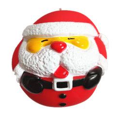 Squeaker 눈 남자 아버지 크리스마스를 가진 크리스마스 비닐 PVC 개 장난감