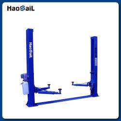 Alquiler de automóvil elevador hidráulico de 2 postes de la placa base de la eslinga de elevación