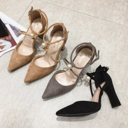 Lady Chunky sandale femmes haut talon Chaussures Chaussures Tendance pour le parti ou un fonctionnaire