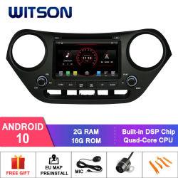 Witson Quad-Core Android 10 Reproductor de DVD para coche Hyundai i10 2016 construido en función DVR