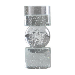 China Facotry Top Sales hand-made Crystal Glass Bubble Kaarsenhouder Kaars Sticker voor Home Hotel Wedding Decoration Festival Kaars