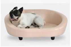 Lederne starke und haltbare Haustier-Hundebett-weich bequeme kleine mittelgrosse Hundehundehütte mit abnehmbarem Hundebett