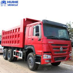 아프리카 시장에서 덤프 트럭 371HP 375HP 6 * 4 10개 휠을 사용했습니다 Usedhowo는 덤프 트럭 치퍼 트럭을 사용했습니다