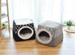 Commerce de gros chat chambre super doux deux façons Utilisez cat grotte lit chambre pet