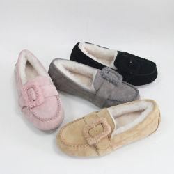 نمو جذّابة بنات سيادات مسطّحة جديد جلد الزلّة على متعطّل أحذية لأنّ نساء