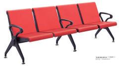 Red Color modieus Design 4-persoons metalen stoel kapper Shop Wachtkamer bezoekersstoel kapsalon meubilair