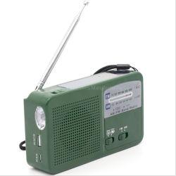 1 radio alimentata solare multifunzionale della dinamo Am/FM del LED con la torcia elettrica