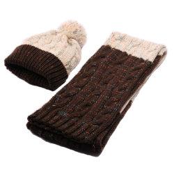 大人のかぎ針編みのHairballのKnitting Scarfアクリルの冬の女性および帽子の一定の方法がっしりしたカスタムは編まれた女性の帽子の冬の帽子を暖める