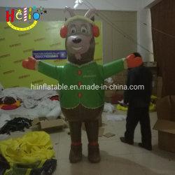 Hot Sale déplacement caricature gonflable Costume de chèvre