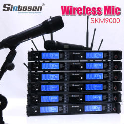 Professioneel Draadloos Kanaal 100 van de Revers van de Microfoon Handbediend zoals-9K 2 meet de Werkende Draadloze Microfoon van de Afstand