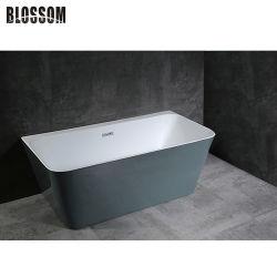 Badezimmer zurück zu Wand-Lucite-Acrylbad-Wanne-freistehender Badewanne