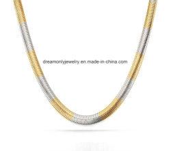 Mezcla de varios colores collar de cadena de la Serpiente plana
