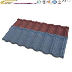 Windproof résistance sismique couleur sable recouvert de tuiles du toit de pierre