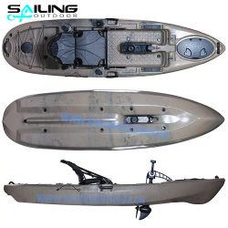 China Fornecedor 10FT única Pessoa Barco de Pesca com deslize Angler Pedal Mar Kayak 10FT para adultos