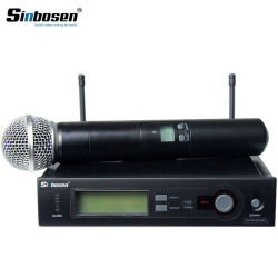 Sinbosen Slx4 Mano Micrófono Inalámbrico UHF Profesional para la Etapa