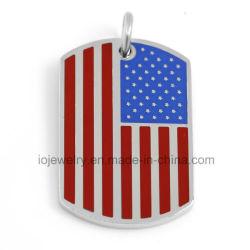 De aangepaste Gepersonaliseerde Juwelen van de Vlag van de V.S. van de Markering van de Hond Tegenhanger