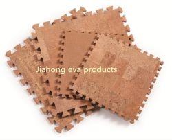 Cork Mat/de Beschermende Matten van de Bevloering met de Met elkaar verbindende Tegels van het Schuim van EVA en de Stukken van de Rand Geschikt voor de Apparatuur van het Huis, Yoga, de Bescherming van de Oppervlakte