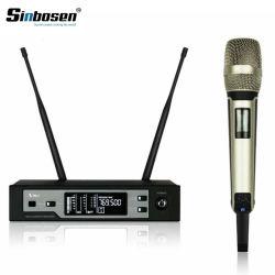 De professionele Draadloze Microfoon van de Hoofdtelefoon van het Enige Kanaal Skm9100 van de Diversiteit van het Stadium UHF Ware