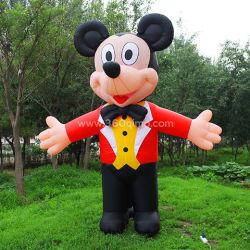 広告およびプロモーション用の、 OEM の有名な Inflatable Mickey マウスマスコットです