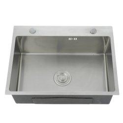 À la main en acier inoxydable de dissipateur de lavage avec une bonne qualité LS-6045s