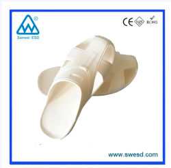 Chambre propre conductrices ESD antistatique PVC mousse pantoufle unisexe