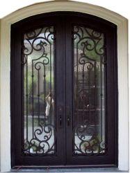 Eua Luxo padrão da porta de segurança da porta de ferro forjado