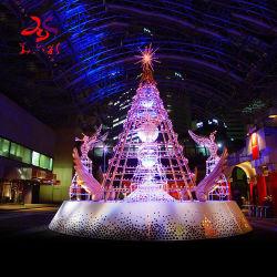 색 분해 광섬유 Pinecone 크리스마스 나무